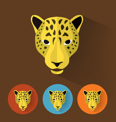 Leopard portrait with flat design vector