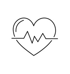 Line heartbeat to know rhythm cardic and frequency vector