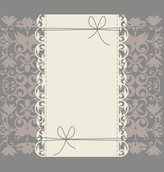 luxury lace frame with floral ornament vector image