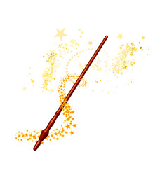 Magic wand with stars on white background vector