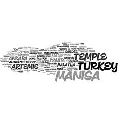 Manisa word cloud concept vector