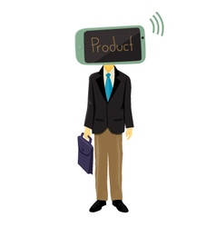 Mobile Head Salesman vector