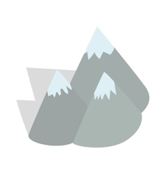Moutains Sweden icon isometric 3d style vector