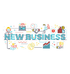 new business word vector image