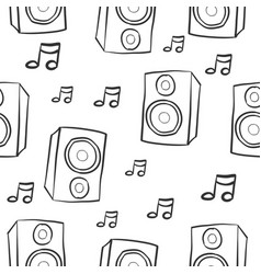 pattern musical instrument hand draw vector image
