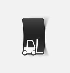 Realistic design element forklift vector