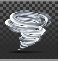 realistic tornado swirl on transparent vector image