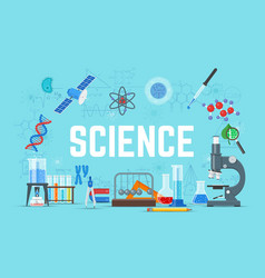 Science concept flat style vector