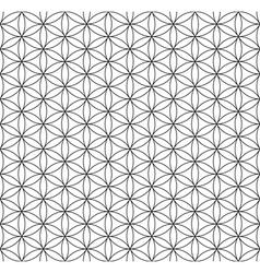 Seamless circles and hexagons pattern vector