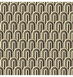 Seamless gold white and black simple art deco wave vector image