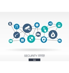 Security network growth abstract background vector