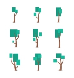 Set of tree style various vector image