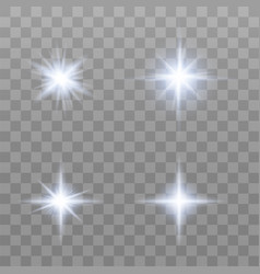 set of various flare elements vector image