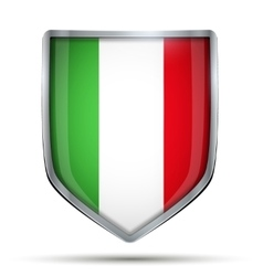 Shield with flag italy vector