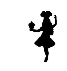 Silhouette girl cook international chefs day vector