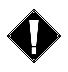 Silhouette warning alert attention sign icon vector