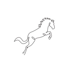 single continuous line drawing jumping elegant vector image
