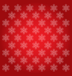 snowflakes backgrounds red vector image