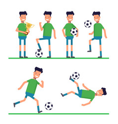 soccer sport athletes football goalkeeper playing vector image vector image