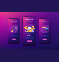 spam app interface template vector image