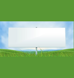 Spring or summer wide white billboard vector