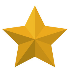 star award flat icon colorful silhouette vector image vector image