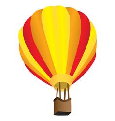 stripy hot air balloon vector image