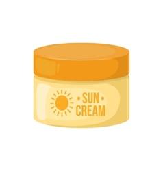 Sun protection cream vector