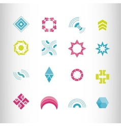 symbol elements set for web design vector image
