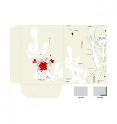 template for decorative folder vector image