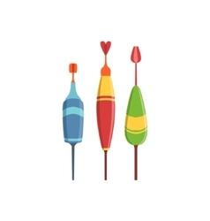 Three Fishing Floats vector image