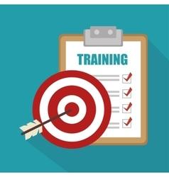 Training business concept design vector
