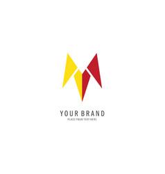 triangle arrow logo vector image