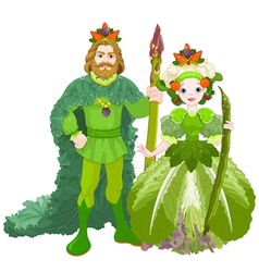 Vegetable the Royal Couple vector image