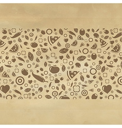 Vintage Restaurant Background With Icons vector