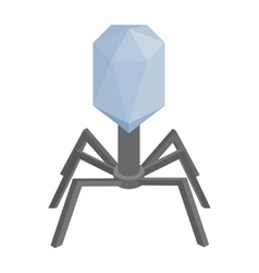 Virus cell isometric 3d icon vector