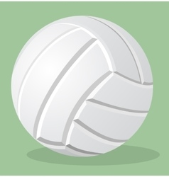 Volleyball white ball realistic vector