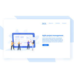 web banner template with group people vector image