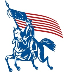 American revolutionary general riding horse Betsy vector image vector image