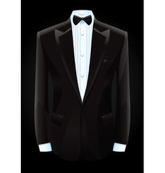black tuxedo and bow tie vector image vector image