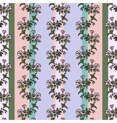seamless pattern in vintage style with sacura vector image