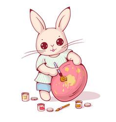 cartoon easter bunny vector image