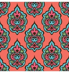 cute seamless floral damask pattern vector image vector image