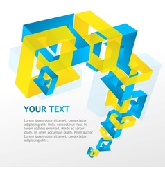 Abstract geometric and text vector image vector image
