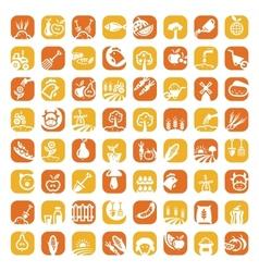big color farm icon set vector image
