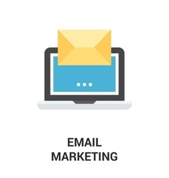 email marketing icon concept vector image vector image