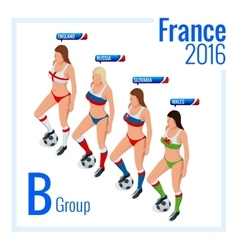 European football championship in France Group B vector image vector image