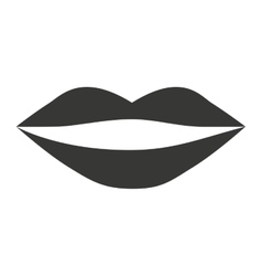 female lips isolated icon design vector image vector image