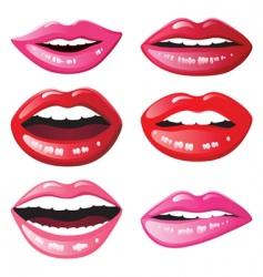 glossy lips vector image vector image