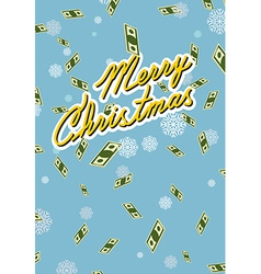 marry christmas Wealth Falling money vector image